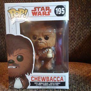 Star Wars Chewbacca With Porg Funko Pop New In Box